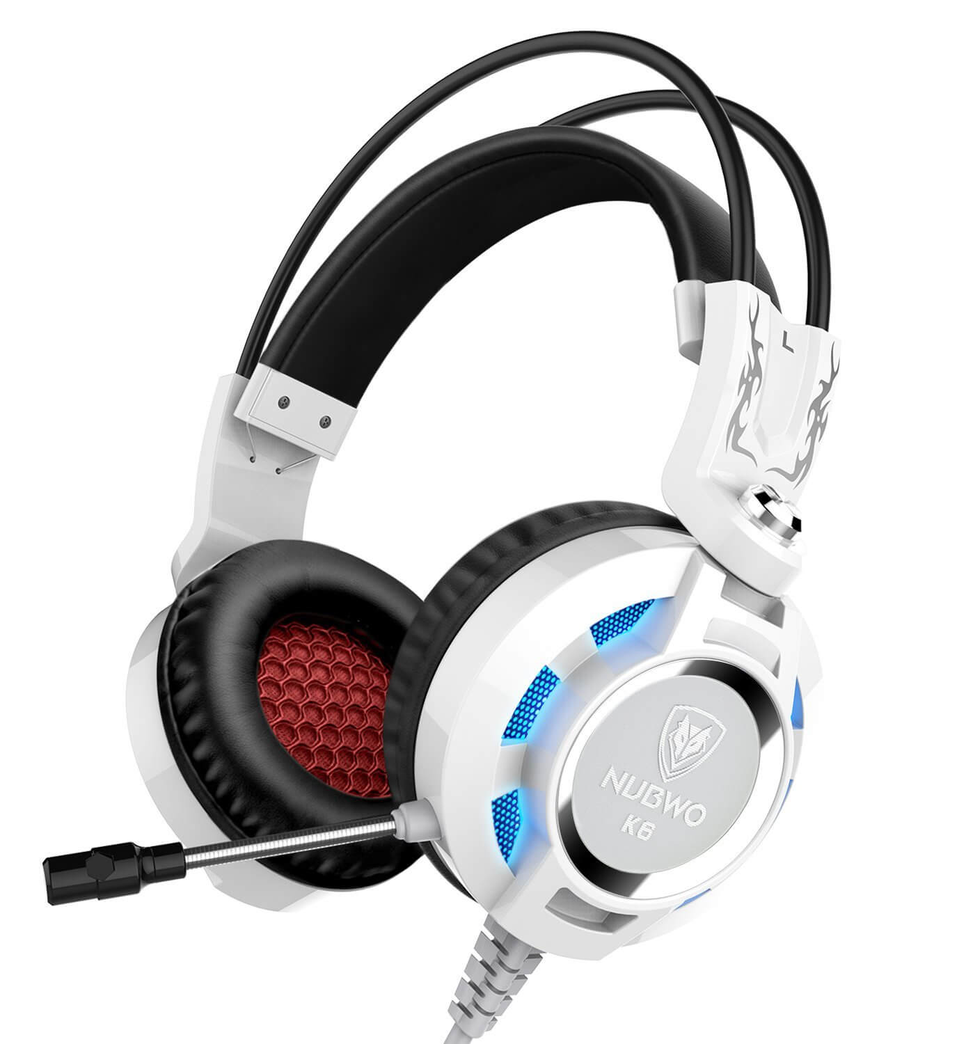 0fa524ee58a Nubwo K6 Over Ear Stereo Gaming Headset with Microphone (White) – IT ...