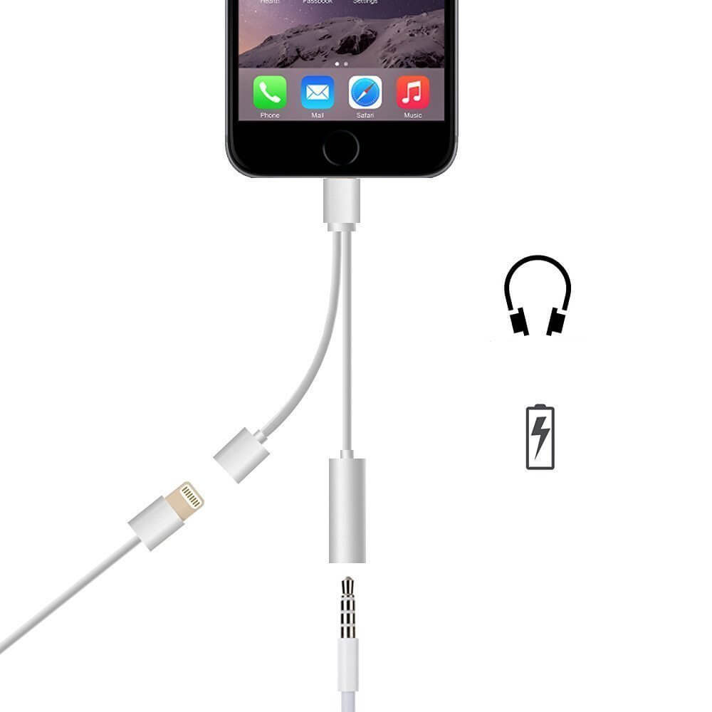 iPhone 7 Lightning to 3.5mm Headphone Jack and Charger ...